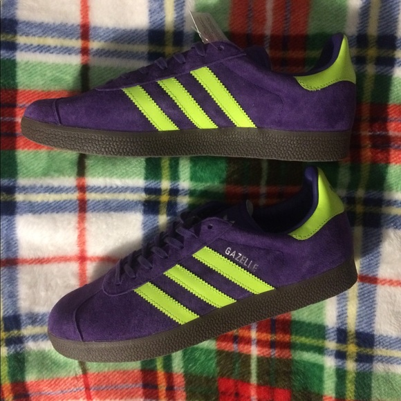 "quality design 038ee cee05 Adidas Gazelle ""Joker"" purple suede electric green"